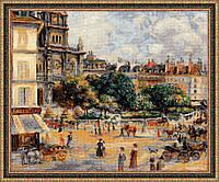 """Набор для вышивания крестом «""""Площадь Троицы. Париж"""" по мотивам картины О. Ренуара » (1396)"""