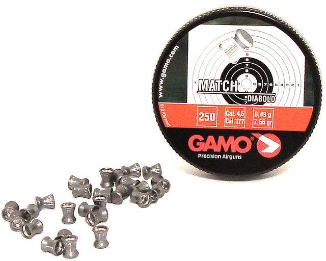 Пули Gamo. Плоские пули для пневматики. Пули Gamo Match 0,49г, 4,5мм, 250 шт/уп