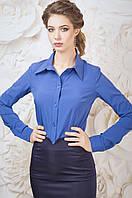 Деловая прилегающая женская блуза рубашечного кроя