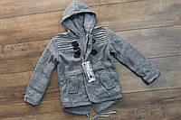 Теплое пальто для мальчиков ( внутри мех- травка). 4- 8 лет