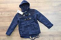 Теплое пальто для мальчиков ( внутри мех- травка).  4- 10 лет