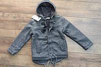 Теплое пальто для мальчиков ( внутри мех- травка). 4- 12 лет.