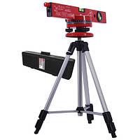 Уровень лазерный с подставкой и штативом,INTERTOOL MT-3007