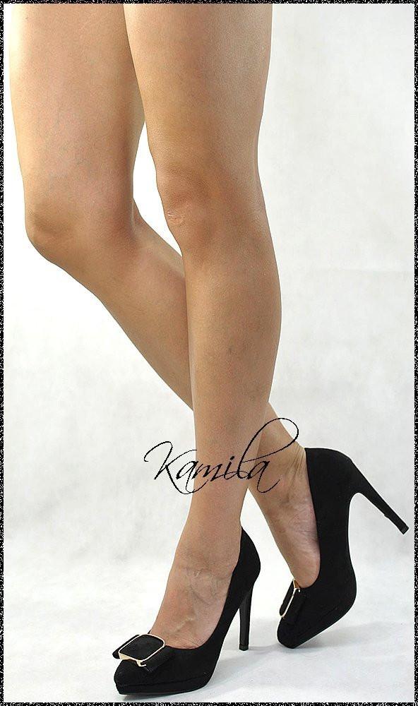 Стильные модные туфли замша черные размер 37
