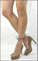 Стильные модные туфли замша кофейные размер 36