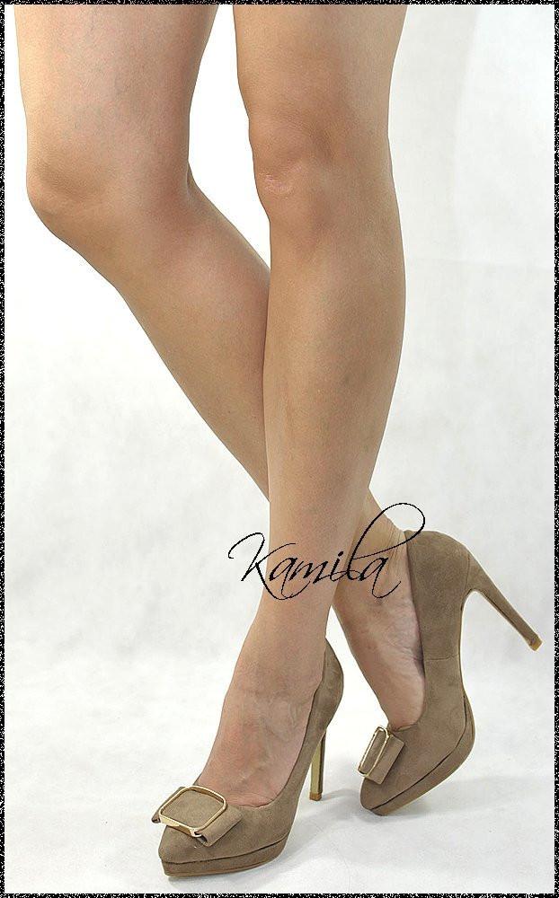 Стильные модные туфли замша кофейные размер 38