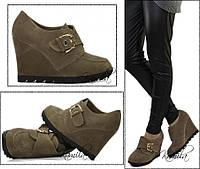 Модные ботильоны туфли замша стильная подошва размер 41