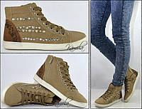 Модные кеды кроссовки на осень сзади узор размер 37