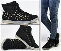 Модные кроссовки кеды на осень черные размер 36