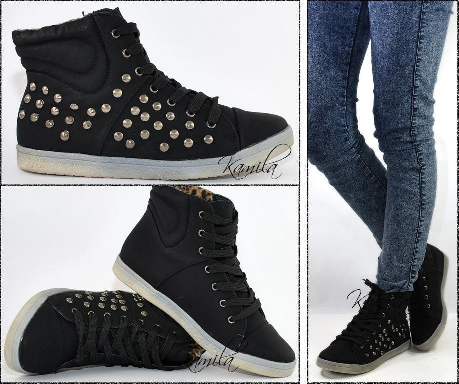 Модные кроссовки кеды на осень черные размер 40