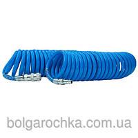 Шланг спиральный полиуретановый 6.5х10мм, 15м с быстроразъемными соединениями (шт.)