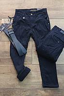 Утепленные катоновые брюки на флисе 6 лет