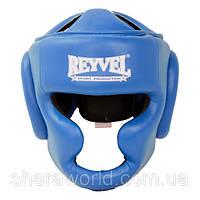 Шлем боксерский тренировочный Reyvel /Винил /Размер: М/ Цвет: красный, синий, черный, белый