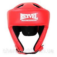 Шлем боксерский Reyvel/ Винил (2)/ Размер: L/ Цвет: красный, синий, черный, белый