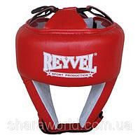 Шлем боксерский Reyvel / кожа (1) / размер: L / Цвет: красный, синий, черный, белый, фото 1
