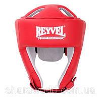 Шлем боксерский Reyvel / кожа (2) / размер: L / Цвет: красный, синий, черный, белый, фото 1