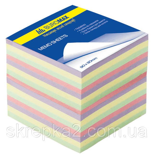 Бумага для заметок цветная BUROMAX 9*9см 1100л не скл. ДЕКОР 2289 - ООО «Скрепка». Офисные принадлежности и канцтовары в Виннице