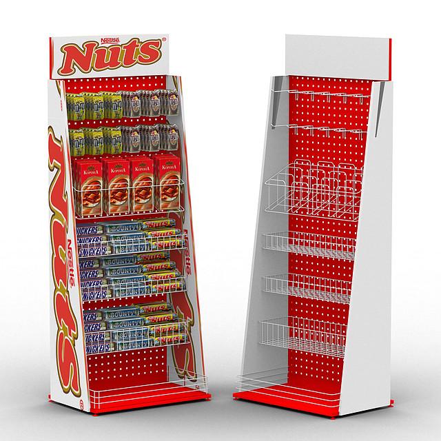 Стенды торговые 🛒 для шоколадных батончиков NUTS