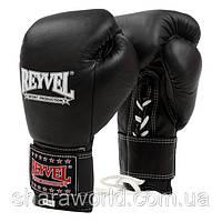 Профессиональные боксерские перчатки REYVEL Pro на шнурках и липучке кожа унции 12oz, фото 1