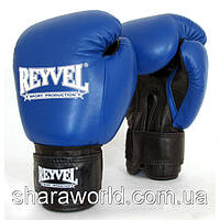 Боксерские перчатки REYVEL / Кожа / Унции: 20 oz / Цвет: красный, синий, черный, белый, желтый, зеленый /, фото 1