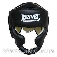 Шлем боксерский тренировочный Reyvel /Винил /Размер: XL/ Цвет: красный, синий, черный, белый