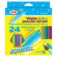 Карандаши акварельные VGR Aquarell 00324W-0115, 24 цвета
