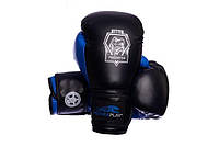 Боксерские перчатки PowerPlay 3002 Eagle Series Blue
