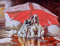 Схема для вышивки бисером  Двое под зонтом