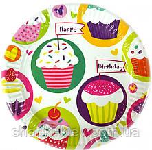 Тарелки Кексики 10 шт. бумажные на День рождения