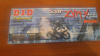 Мото цепь  525 DID 525ZVM-X 108 звеньев G&G золотая для мотоцикла  сальник X 2 -Ring
