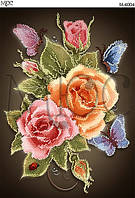 Схема для вышивки бисером  Розы