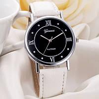 Модные женские наручные часы Женева белые