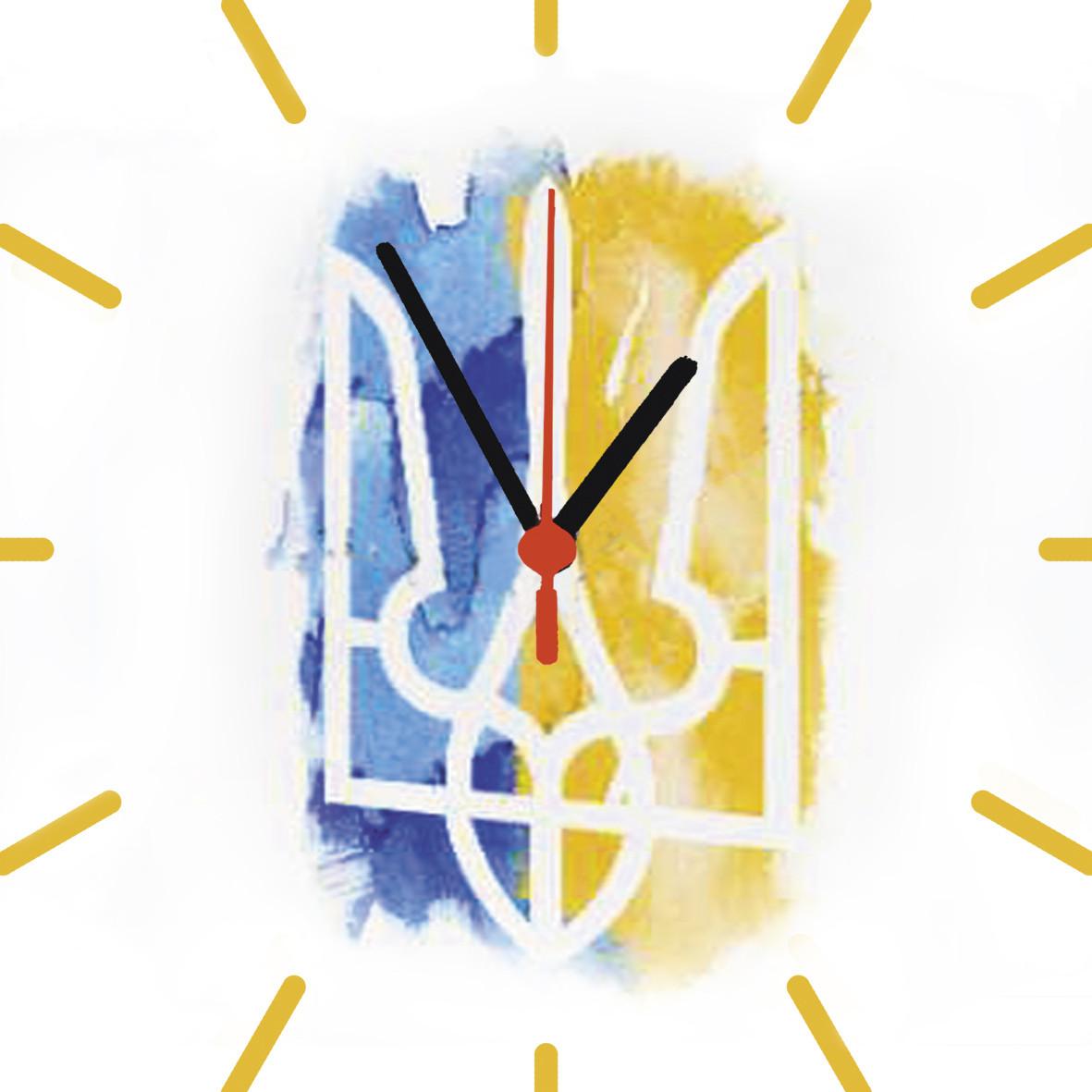 """Настенные часы на стекле """"Герб. рисунок"""" кварцевые"""