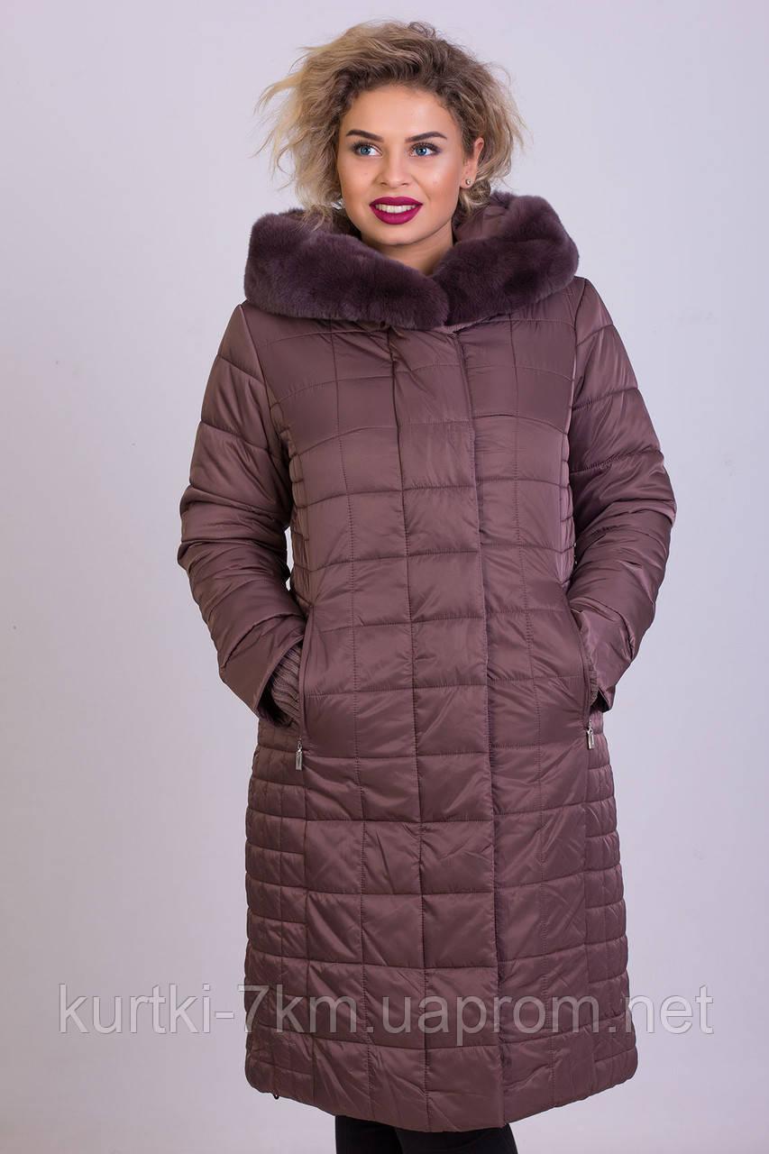 Женский пуховик большого размера  Visdeer №6137 - Женские куртки, пуховики - Куртки 7км в Одессе