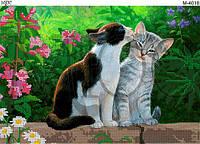Схема для вышивки бисером Кошачья любовь