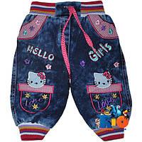 "Джинсы (на махре) ""Hello Kitty"" для девочки от 06 мес - 4 лет"