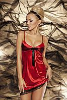 Сатиновая ночная сорочка Nel TM Dkaren (Польша) Цвет красный
