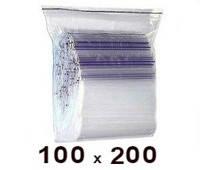 Zip Lock пакет 100 × 200