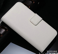 Кожаный чехол-книжка для iPhone 4 4S белый