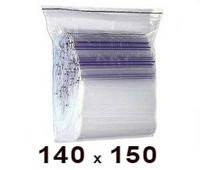 Zip Lock пакет 140 × 150