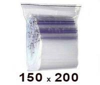 Zip Lock пакет 150 × 200
