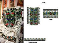 Заготовка для вишивки бісером/нитками жіночої сорочки на натуральній тканині, фото 1