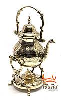 Бронзовый старинный чайник с горелкой