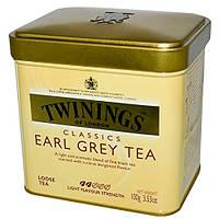 Чай черный листовой байховый  Twinings Earl Grey 100 грамм в жестяной банке