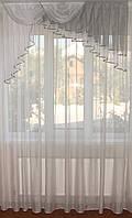 Ламбрекен 1,5м ассиметрия серый