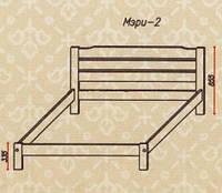 """Кровать """"Мэри-2"""" из массива ольхи (Темп)"""