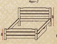 """Кровать """"Мэри-3"""" из массива ольхи (Темп)"""