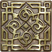 Вставка декоративная бронзовая Orient (7,5x7,5)