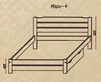 """Кровать """"Мэри-4"""" из массива ольхи (Темп)"""