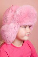 Зимние шапки для девочек натуральный мех кролика